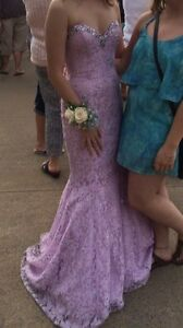 Mermaid corset prom dress!