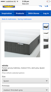 Almost New Hovag mattress from Ikea queen size West End Brisbane South West Preview