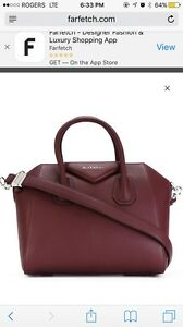 Authentic givenchy Antigona small in burgundy