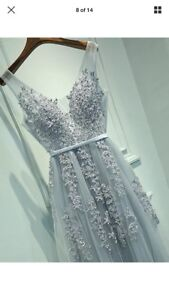 Beaded long gown dress size 4