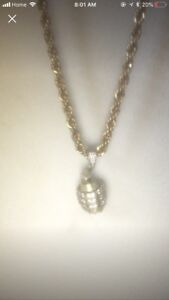 Plated gold rope chain