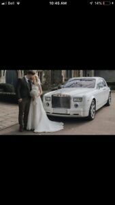 Canada only white rolls Royce phantom limo