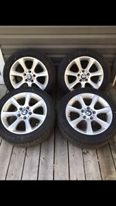 BMW OEM 17' Rims with Like New Michelin Run Flats