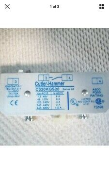 C320KGS20 Cutler-Hammer Series A2 Freedom Series Auxiliary Contact New