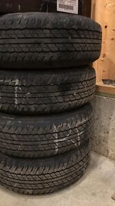 Set of 5 245/75R16 very good shape
