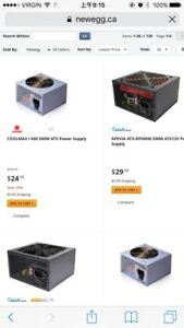 looking for power supply with PCIE pins