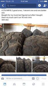 7 37 inch super swampers  300 obo
