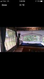 2002 Coleman Tent Trailer 10 ft, Minivan towable.