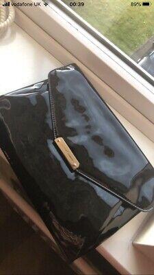 Jasper J Conran Patent Leatherblack Clutch Bag