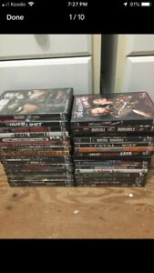 Huge lot of wwe movies (used)