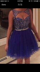 Short royal blue prom dress