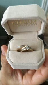 10K Gold Engagement Ring and Band