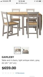 Ikea Gamleby Dining Set with 4 chairs