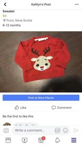 6-12 month Christmas sweater