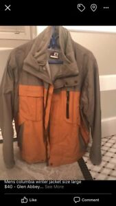 Men's size large Columbia winter jacket