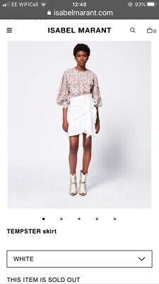 Isabel Marant Etoile Tempster White Linen Wrap Skirt Size 38/UK 10 RRP £250