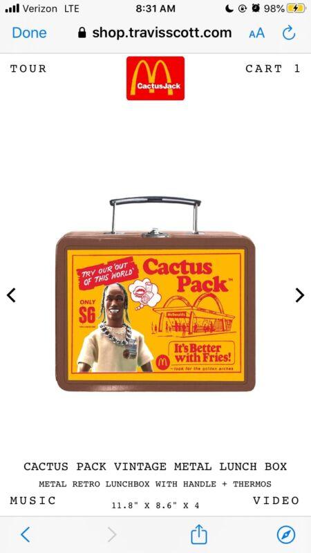 Travis Scott x McDonalds Metal Lunch Box Cactus Jack CONFIRMED LIMITED EDITION