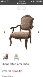 Bombay Company Shepperton accent arm chair antique style