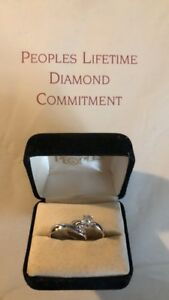 .57 (half carat) White Gold Solitaire Engagement Set