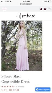 Henkaa Blush Pink Dress with Bandeau and Overlay