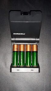 Duracell Rechargeable Batteries + Charger