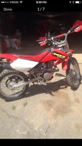 Honda xr with ownership