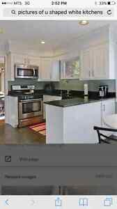 LOOKING FOR : white kitchen cabinets or expresso