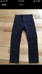 (5) Lululemon Wunder Under CROPS Sz 4