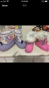 Baby boots size 4-5 Asking $5 for both