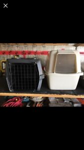 Pet kennels and litter box