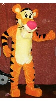 Tigger Costumes (Tigger Winnie The Pooh Mascot Costume Party Character Birthday Halloween)