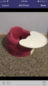 Pink Bumbo Chair with Tray, seat