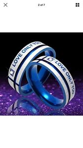 ENGRAVED••••LOVE ONLY YOU••••RINGS/BANDS!!