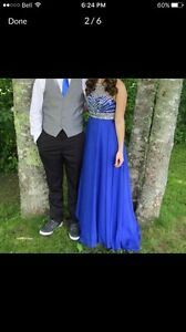 Royal blue prom dress!