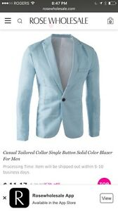 3 Light Blue Sport Jackets/Blazers