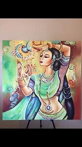 Bollywood belly dancer Painting Berwick Casey Area Preview
