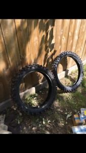 Studded Dirtbike tires