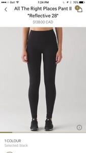 "Lululemon- Women's ""All The Right Places Pant II"" Size 8."