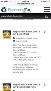Comic Con Niagara Weekend Passes
