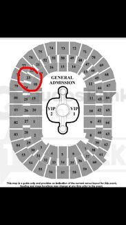 4x COST PRICE Gold Reserved tickets $155ea - Sydney 8th November