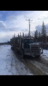 Log truck and trailer