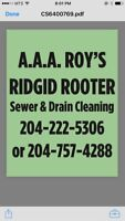 Sewer and drain cleaning.  Drain service sewer cleaning