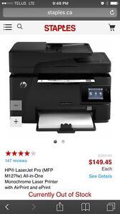 HP Laser Jet Multi Function Printer M127FW