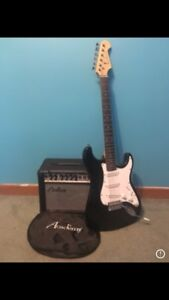 Academy guitar and amp.