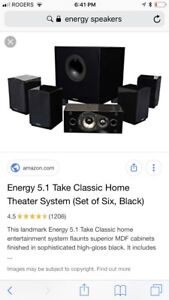 Home  theatre speakers and subwoofer!!
