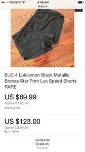Rare lululemon shorts