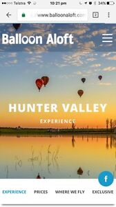 Hot Air Balloon Ride for 2 - Hunter Valley Fletcher Newcastle Area Preview