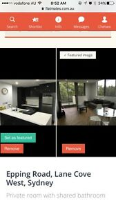 Two rooms for rent in NEW LUXURY APARTMENT Lane Cove Lane Cove Area Preview