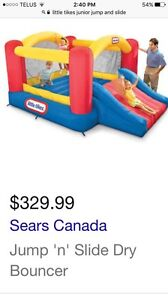 Jump and slide bouncy house