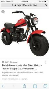 Looking for 2 tires off a Baja mini bike